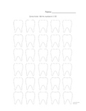 Dental Writing Numbers