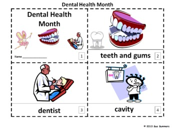 Dental Health Month 2 Booklets in ENGLISH