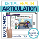 Dental Health Month Articulation Boom Cards™️ for Speech Therapy