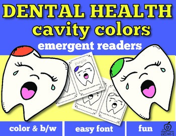 Dental Health Month Emergent Reader: Cavity Colors