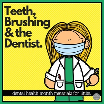 Dental Health Month Emergent Reader Crown and Read and Color Printables