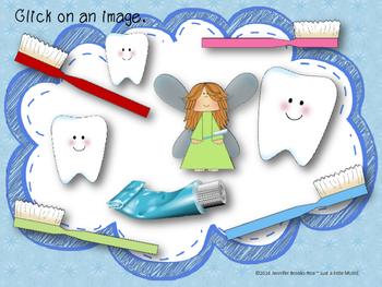 Dental Health Month (February) Rhythm Reading Practice {ta titi rest}