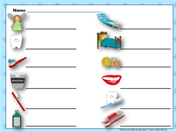 "Dental Health Month (February) Rhythms--""Write the Room"" {ta titi rest}"