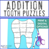 Dental Health Activities | Dental Health Month Addition Math Teeth Puzzles