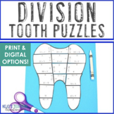 Dental Health Month Math Centers: Division Teeth Puzzles