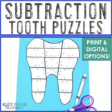 Dental Health Activities | Dental Health Month Subtraction Math Teeth Puzzles