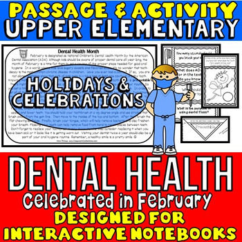 Dental Health Month: Reading Passage and Questions: Intera