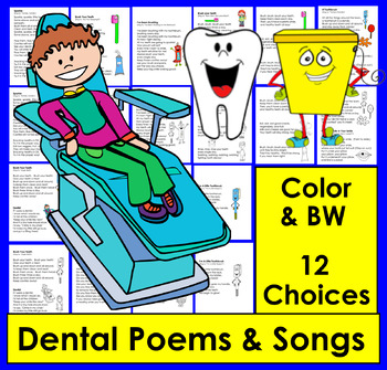 Dental Health Poems and Songs For Shared Reading and Fluency