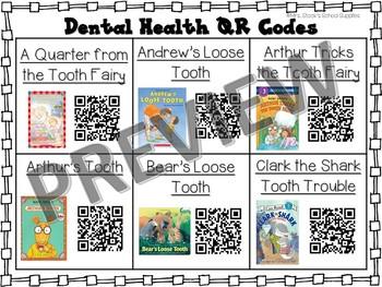 Dental Health Month QR Code Read Alouds