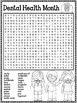 Dental Health Month Word Search Activity