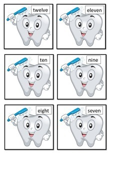 Dental Health Month game teeth toothbrush ESL tally marks math center