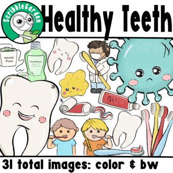 Dental Health, Oral Hygiene ClipArt