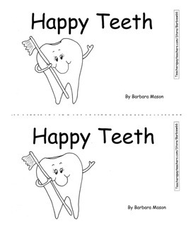 Dental Health PACK Printable Book Base Ten Game Sight Word