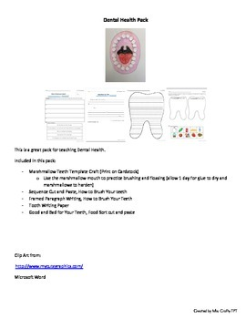 Dental Health Pack