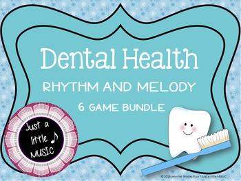 Dental Health Rhythm and Melody--6 game BUNDLE {ta titi re