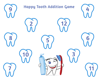 Dental Health Roll and Cover Games