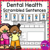 Dental Health Scrambled Sentences with Cut and Paste Writing Worksheets
