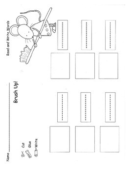 Dental Health Read and Write Sight Words Activity Center Practice Sheet  RF.K.3c