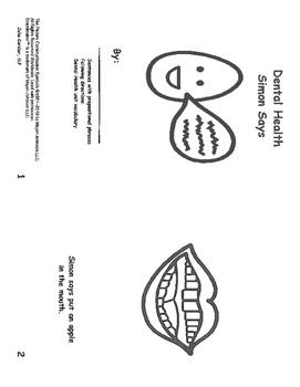 Dental Health Simon Says- mini book