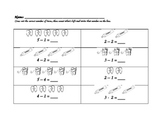 Dental Health Simple Subtraction Sheet