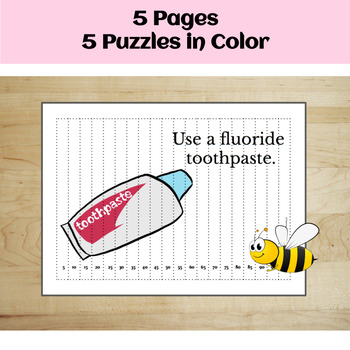 Dental Health: Skip Counting Puzzles