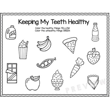 Dental Health Sort for Preschool