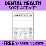 Interactive Sorting - Dental Health Activity
