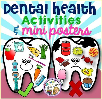 Dental Health Sorting Activity and Mini Posters