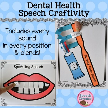 Dental Health Speech Therapy Crafts {Meets all your articulation needs!}