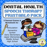 Dental Health Speech Therapy Printable Pack