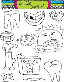 Dental Health Stamps Clipart Set