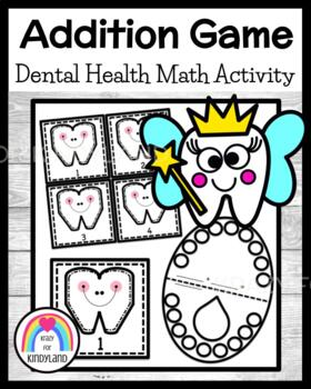 Teeth Addition Game FREEBIE! (Dental Health)