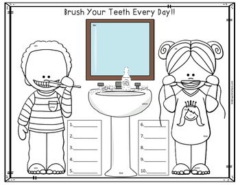 Dental Health & Tooth Care Hidden Sight Words