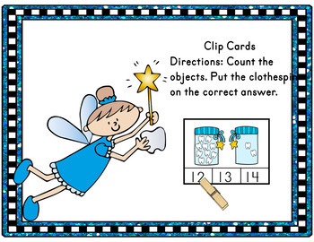 Dental Health - Tooth Fairy Counting Clip Cards