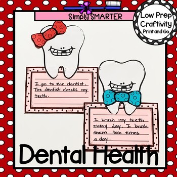 Dental Health Tooth Writing Cut and Paste Craftivity