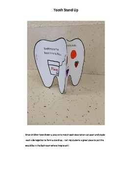 Dental Health - Tooth stand up