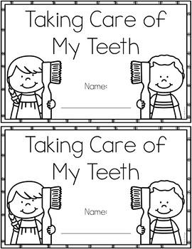 Dental Health Tracing Book