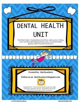 Dental Health Unit - Math, Science and Language Arts