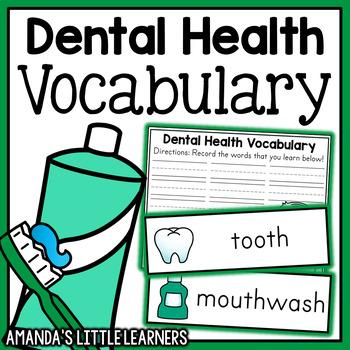 Dental Health Vocabulary Cards and Printables