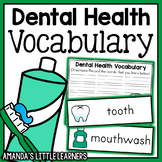 Dental Health Vocabulary Cards and Worksheets