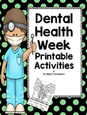 Dental Health Week Printable Activities