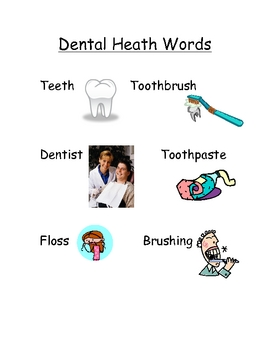 Dental Health Words
