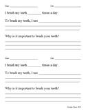 Dental Health Worksheet