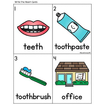 Dental Health Write the Room