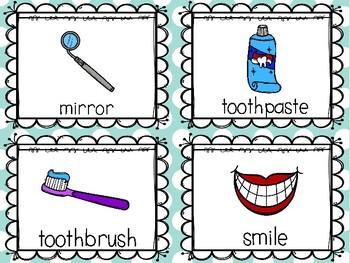 Dental Health Write the Room Dental Health Month February Kindergarten