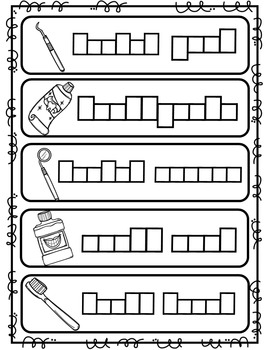 Dental Health Write the Room {Differentiated Writing activities}