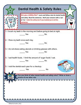 Dental Health:Five Easy Rules for Kids