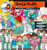 Dental Health clip art -Color and B&W- 66 items!