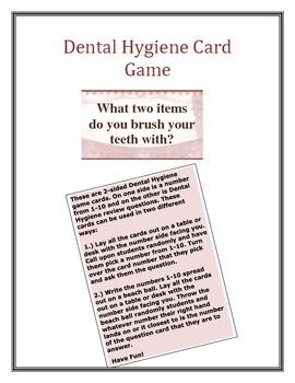 Dental Hygiene Card Game