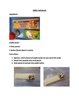 Dental Hygiene Cooking Activity